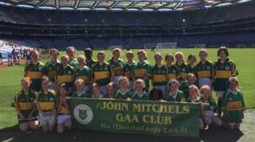 John Mitchels Gaelic4Girls 2014 trip to Croke Park.