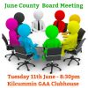 County Board Meeting & Championship Draw